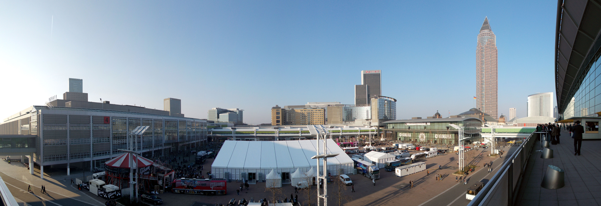 Panorama über die Agora-Stage