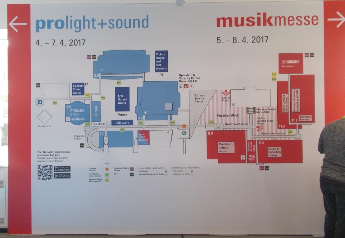 Links zur ProLight+Sound 2017 - rechts zur Musikmesse 2017